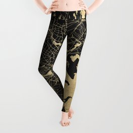 Boston Gold and Black Invert Leggings