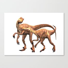 Velociraptor ..  animal design Canvas Print