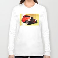 ford Long Sleeve T-shirts featuring Flames Ford by D. H. Carter
