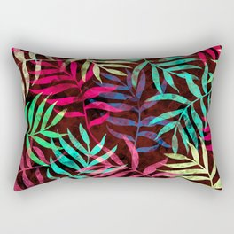 Watercolor Tropical Palm Leaves IV Rectangular Pillow