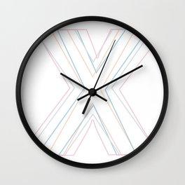 Intertwined Strength and Elegance of the Letter X Wall Clock