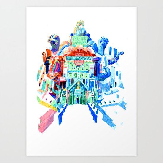Le Très Grand Stade De Lutte Art Print
