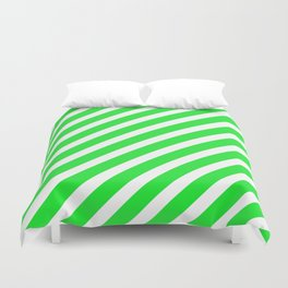 Basic Stripes Green Duvet Cover