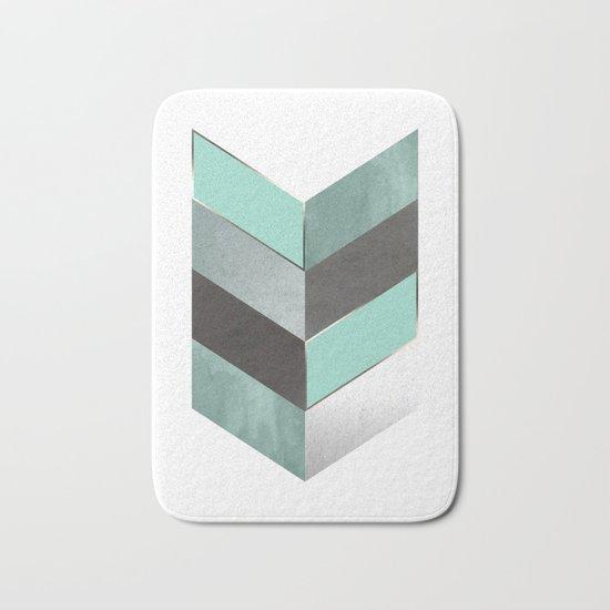 Chevron Geometric 1 Bath Mat