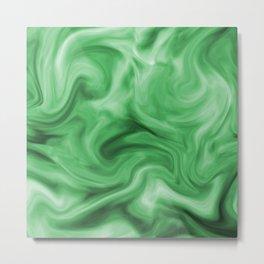 Emerald silk Metal Print