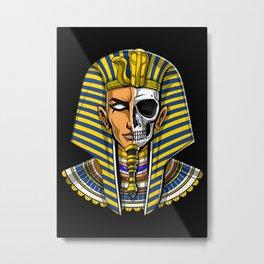 Egyptian Pharaoh Skull Metal Print