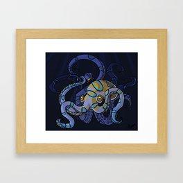 Classy Octopus Framed Art Print