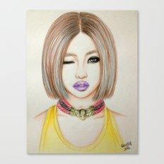 Minzy Gong (2NE1) Canvas Print