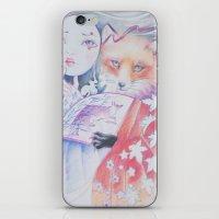 kitsune iPhone & iPod Skins featuring kitsune kitsune by Eszter Nagy