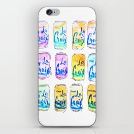 Watercolor La Croix iPhone Skin