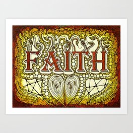 Faith Golden Art Print