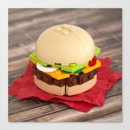 Gourmet Burger Canvas Print