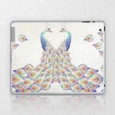 white peacock Laptop & iPad Skin