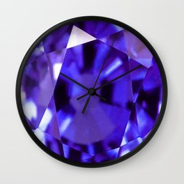 RUSSIAN PURPLE AMETHYST FEBRUARY BABY'S BIRTHSTONE ART Wall Clock