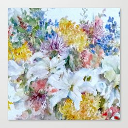 Bountiful floral Canvas Print