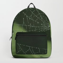 Spiderweb in the rain Backpack