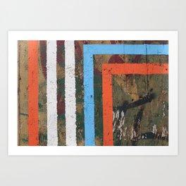 MADRID STRIPES Art Print