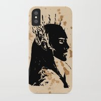 lotr iPhone & iPod Cases featuring Elven king by Panda Cool