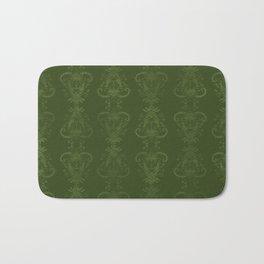 Carnivorous Damask (Lime) Bath Mat