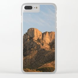 The majesty of the mountains at Catalina State Park I Clear iPhone Case