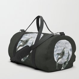 orcas' moon dance Duffle Bag