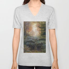 Dew-Drenched Furze by John Everett Millais (1889) Unisex V-Neck