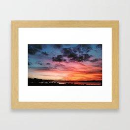 Kai Iwi Sunset Framed Art Print