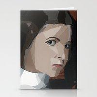 princess leia Stationery Cards featuring Princess Leia  by Topaz Arrow