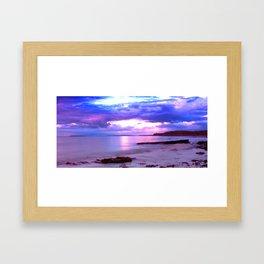 Kilve sunset Framed Art Print
