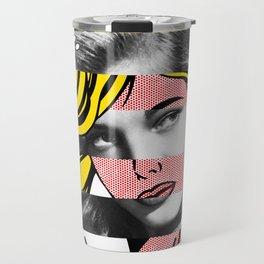 Roy Lichtenstein's M-Maybe & Lauren Bacall Travel Mug