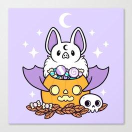 Pumpkin Bat Canvas Print