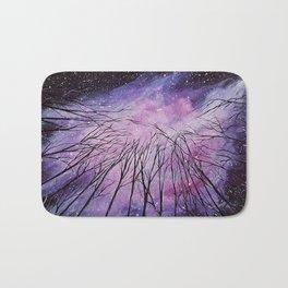Galaxy, watercolor Bath Mat