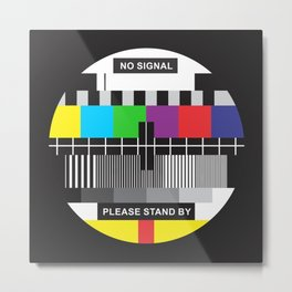 TV No Signal Metal Print