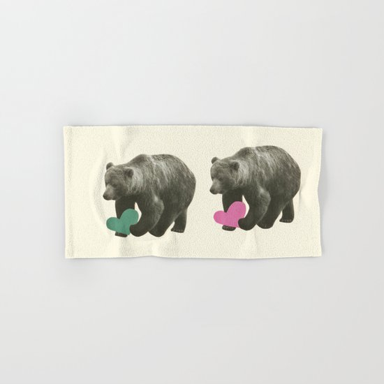 A Bear Romance Hand & Bath Towel