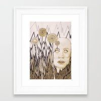 anxiety Framed Art Prints featuring Anxiety by Gabi Pezoa