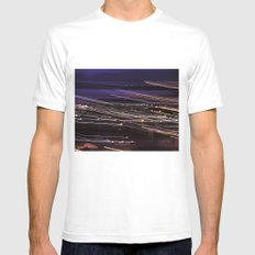 A flash of colors. MEDIUM White Mens Fitted Tee