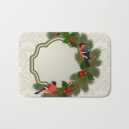 Christmas or New Year decoration Bath Mat
