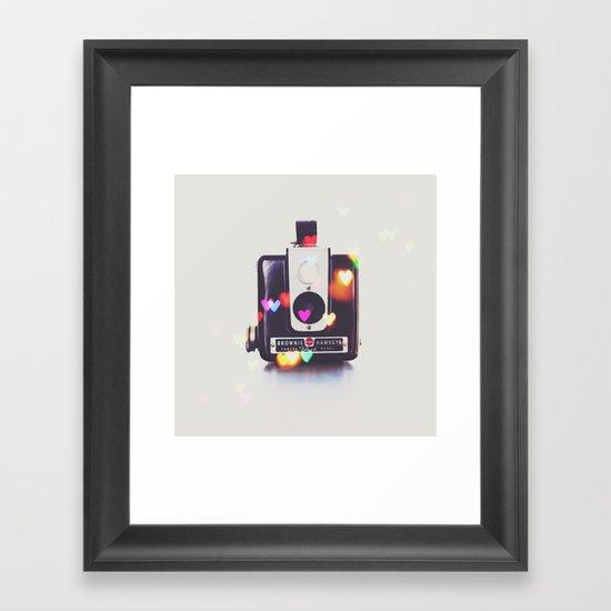 Heart Brownie Hawkeye  Framed Art Print