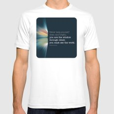 The Window MEDIUM White Mens Fitted Tee