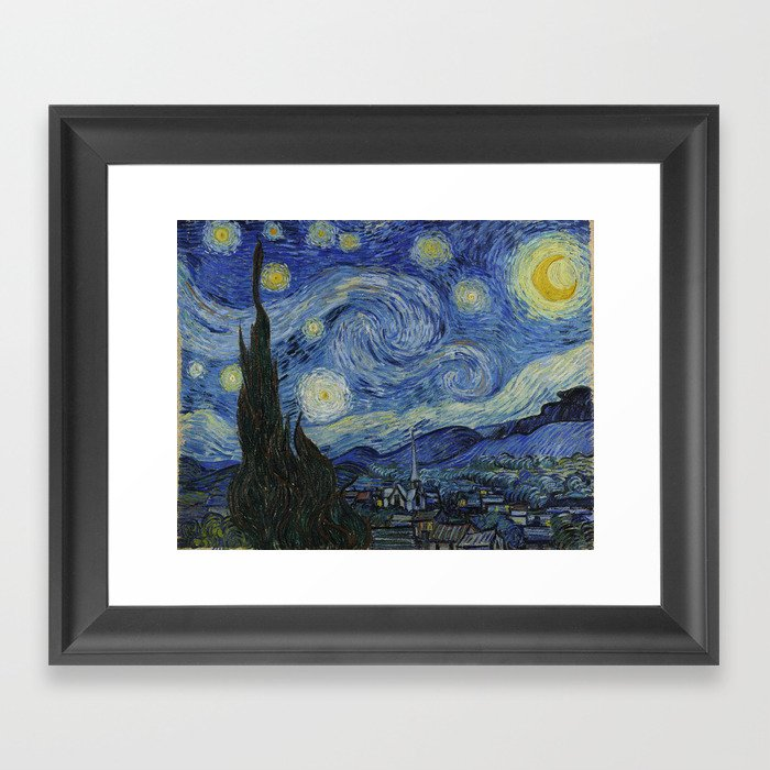 The Starry Night Gerahmter Kunstdruck