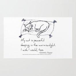 Cat Nap Haiku Rug