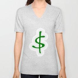 Shrinking Dollar Unisex V-Neck