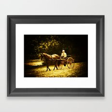 A Gentleman's Ride Framed Art Print