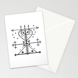 Maman Brigitte Veve Spirit World Blessings Voodoo Goddess Stationery Cards