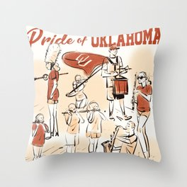 Pride of Oklahoma Throw Pillow