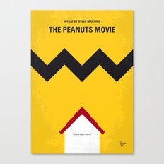 No624 My The peanuts minimal movie poster Canvas Print