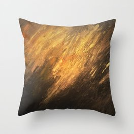 Gold to the touch Throw Pillow