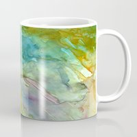 stained glass Mugs featuring Stained Glass by Rosie Brown