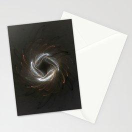 Metallic Swirl Fractal Stationery Cards
