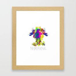 Neonderthal Framed Art Print